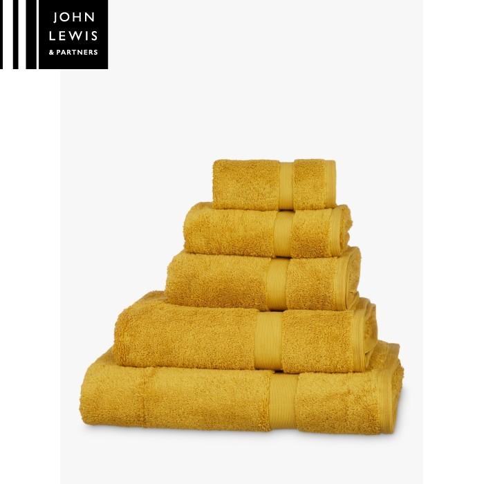 Sale John Lewis Egyptian Cotton Mustard Towel 90x165 Yellow Bath Towels Bathrooms The Atrium