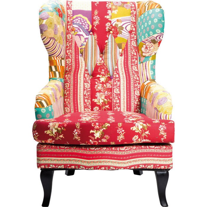 kare-wing-chair-patchwork-red | designer-armchairs | sofas ...