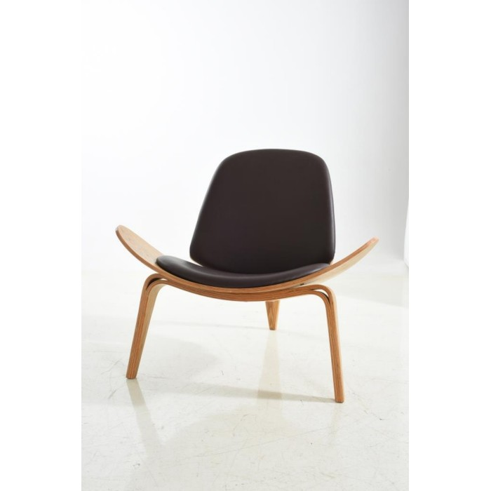 dupen-designer-armchair-in-natural-oak-veneer-and-black ...