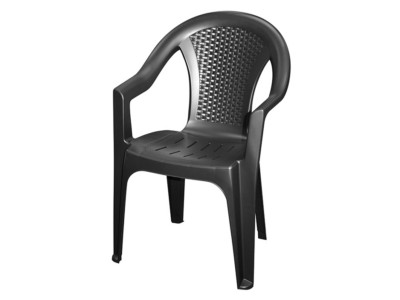 Chair Ischia Pp Black Matt Clr