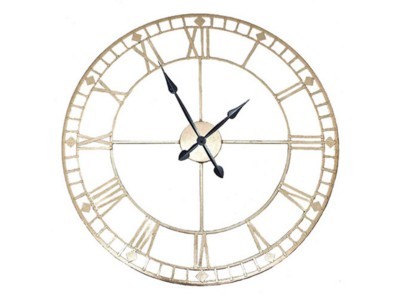 home-decor/clocks-mirrors/antique-gold-metal-round-wall-clock
