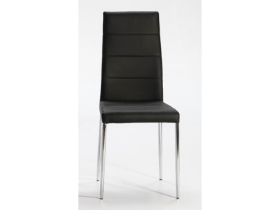 3bda0449fb9 Altea Chair Chrome Legs Pu Black