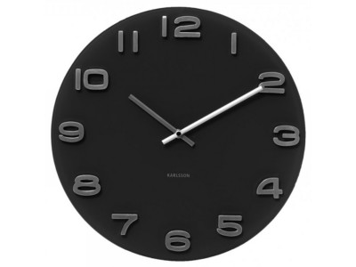 home-decor/clocks-mirrors/wall-clock-vintage-black-round-glass