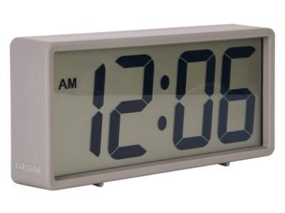 Karlsson Alarm Clock Rubberized Grey