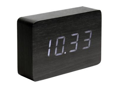 Karlsson Alarm Clock Square Black Veneer