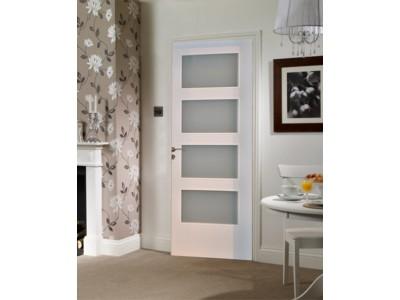 Laminate Gl Door White