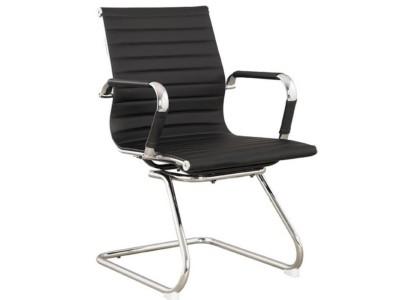Visitor Chair Black Pu